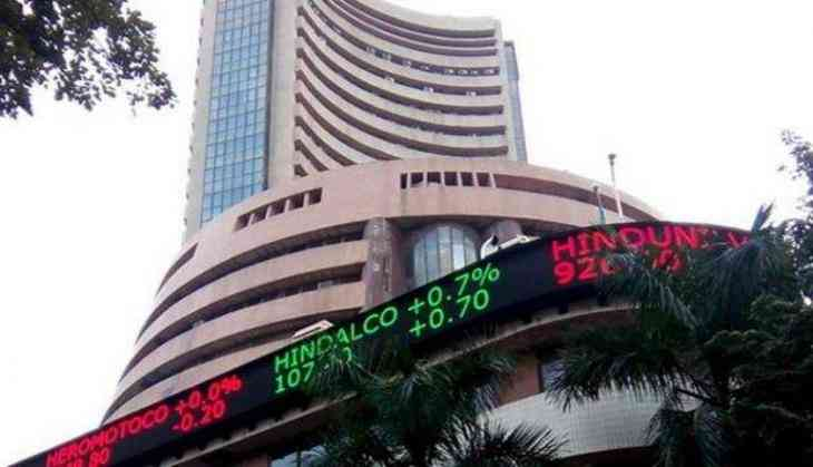 Equity indices open in red, Sensex down by 46 pts