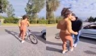 साइकिल से जा रही लड़की से कार सवार युवकों ने की छेड़छाड़, वीडियो में देखें फिर कैसे सिखाया लड़कों को सबक