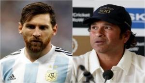 Sachin Tendulkar congratulates Lionel Messi for winning Copa America title