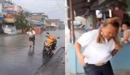 बारिश से अपने इस सामान को बचाने के लिए शख्स ने लगाई दौड़, वीडियो देख छूट जाएगी हंसी