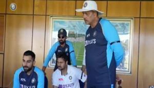 Virat Kohli and boys cheer for Dhawan-led team India during win against Lanka