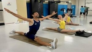 Tokyo Olympics: Novak Djokovic 'working on splits' alongside Belgium artistic gymnast