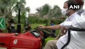 खुद ट्रैक्टर चलाकर संसद पहुंचे राहुल गांधी, कांग्रेस ने कहा- अब किसान के अधिकारों की है लड़ाई