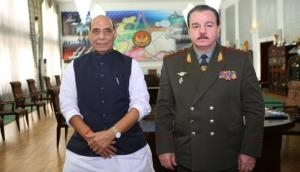 Rajnath Singh meets Tajik counterpart, holds discussions on expanding defence cooperation