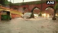 Delhi: Rains cause waterlogging in city, traffic movement affected