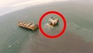 जापान: टूटकर दो हिस्सों में बिखर गया 4 करोड़ किलो वजनी जहाज, समंदर में 24 किमी तक फैला ईंधन