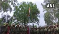 Indian Army hoists national flag in Naushera