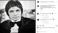 Big B shares words of wisdom with throwback picture from his younger days