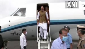 Rajnath Singh arrives in Gujarat to address BJP executive meeting
