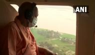 UP CM Yogi Adityanath conducts aerial survey of flood-affected areas in Bahraich