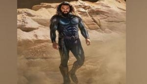 Jason Momoa unveils first look of his new costume for 'Aquaman and the Lost Kingdom'