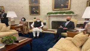 PM Modi meets US President Joe Biden at White House