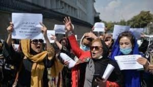 Afghan Crisis: Hundreds protest outside UN headquarters over women's rights violations in Afghanistan