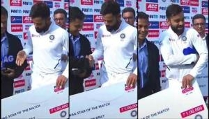 Virat Kohli reminds guest to hand him his award during presentation ceremony; hilarious video goes viral