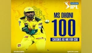 IPL 2021: MS Dhoni completes 100 IPL catches for CSK as wicket-keeper