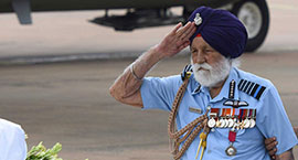 At 96, Marshal of the Air Force Arjan Singh can still give a soldier
