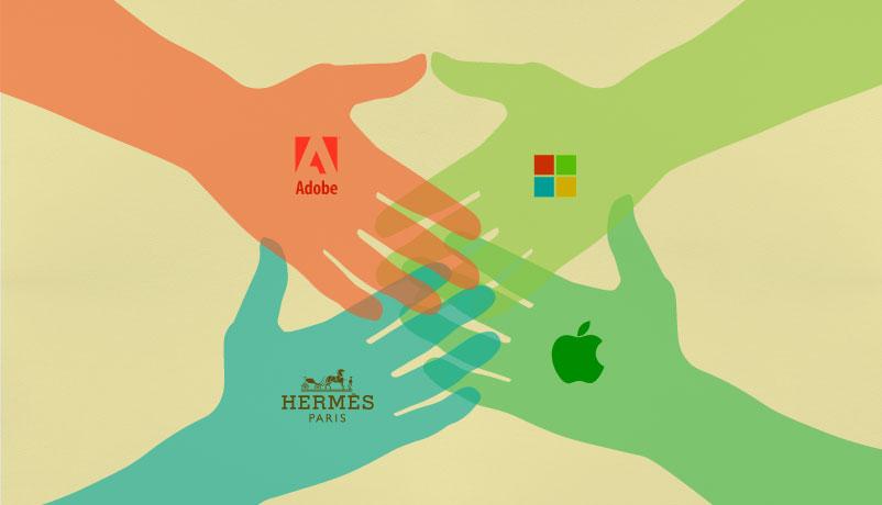 Hermes, Adobe, Ferrari: Apple