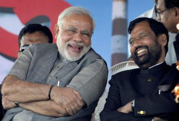 Paswan and Modi , Photo: Patrika