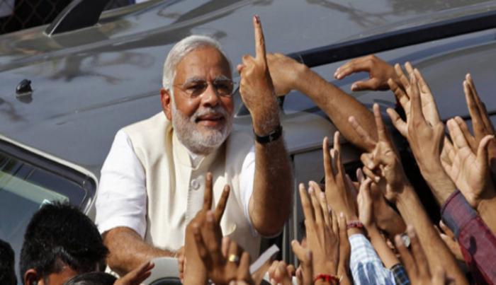 patrika_narendra modi after voting.jpg