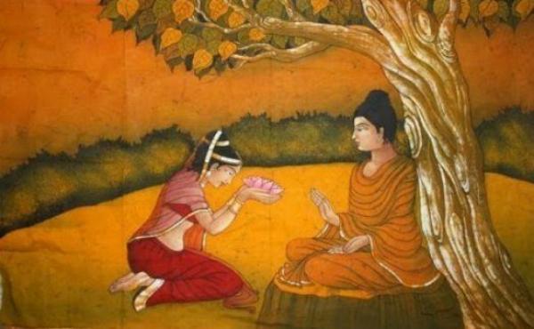 Amprapali_Lord Buddha_wiki_commons_jpg
