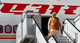 The Year in Air Miles: tracking PM Modi
