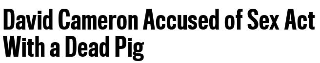 27 headlines 2015 Cameron pig