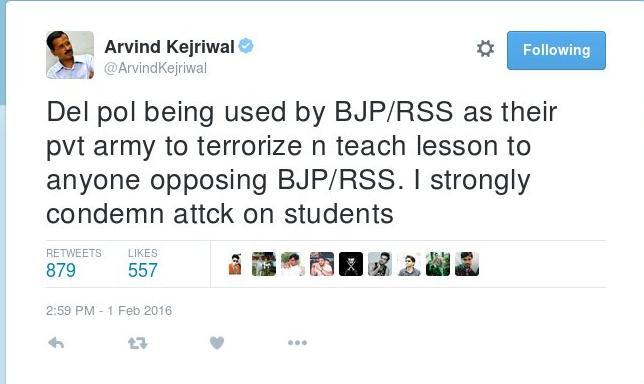 arvind kejriwal tweet