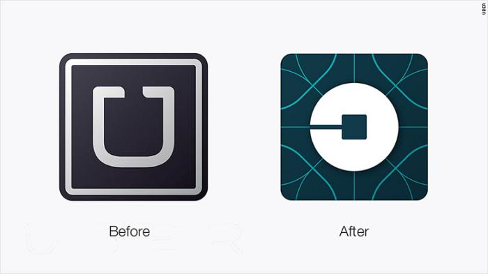 Uber logo_Before and after