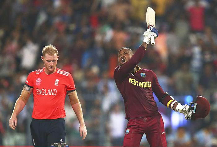 Ben Stokes and Marlon Samuels_Ryan Pierse/Getty Images