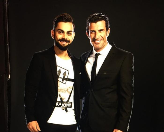Virat Kohli and Luis Figo_Twitter Photo