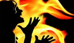 A six-month-old infant dies after woman sets two minor daughters on fire