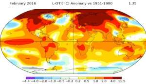 नासाः वर्ष 2016 बना दुनिया का सबसे गर्म वर्ष
