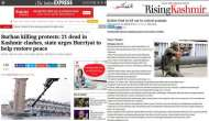 Kashmir unrest: Are media portals in the Valley saying the same thing that national dailies are?
