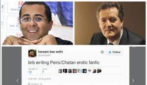 Twitter swiping right to Piers Morgan-Chetan Bhagat's 'love story' is hysterically funny