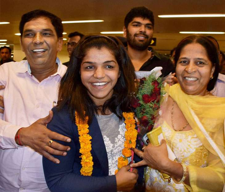 Sakshi Malik arrived in India last week after winning a bronze medal at the Rio Olympics