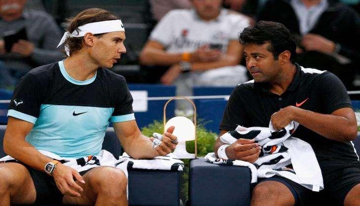 Leander Paes and Rafael Nadal
