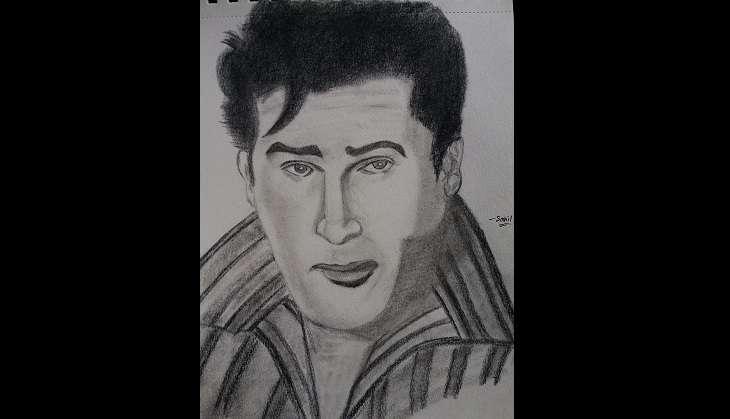 Shammi Kapoor Sketch By Sahil Khamosh