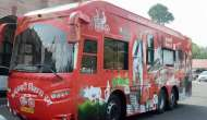 This is how the inside of Akhilesh Yadav's red Mercedes rath looks like