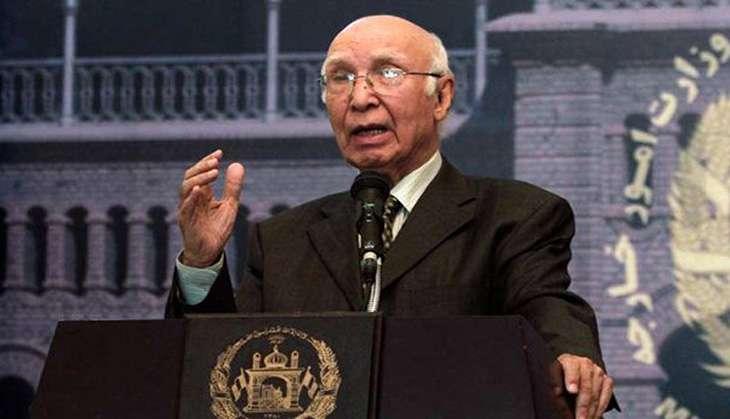 Pakistani foreign affairs advisor Sartaj Aziz