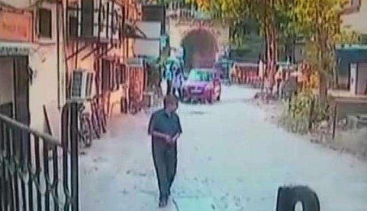 Hit and run incident caught on camera; speeding car runs over 2 children in Maharashtra