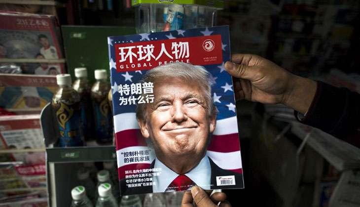 Donald Trump on Chinese magazine AFP Photo/Johanne