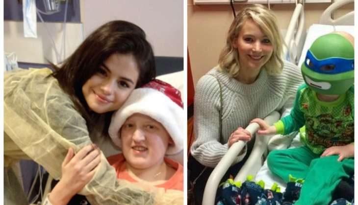 How Jennifer Lawrence and Selena Gomez brought Christmas cheer to their fans