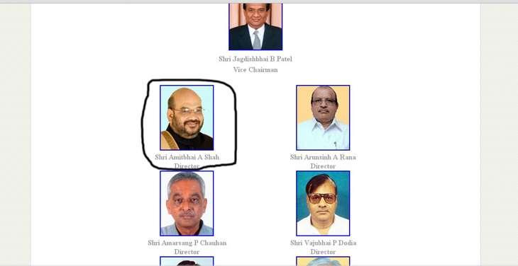 Amit Shah bank website
