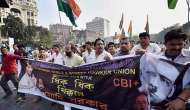TMC MPs continue sit-in protest against Modi govt over arrest of party MPs in chitfund scam
