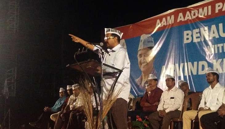Arvind Kejriwal addresses rally in Benaulim, Goa