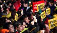 South Korea protesters demand president Park Geun-Hye's removal, ferry salvage