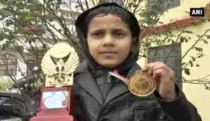 Eight-year old Jammu and Kashmir boy wins Thai Boxing Championship at the national level.
