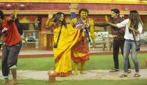 Monalisa and Vikrant's haldi ceremony in Bigg Boss