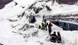 Holiday cut short. See how an avalanche took down this Italy hotel